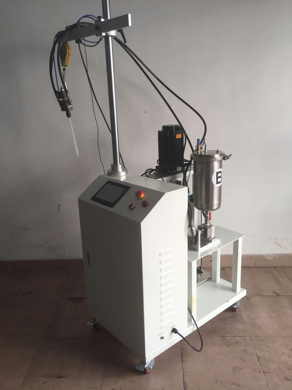 东莞AB双液自动混合定量灌胶机,高粘度A胶压盘式混胶机