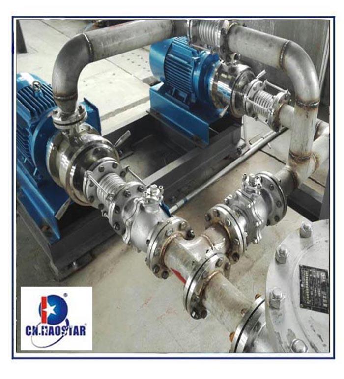 大型胶体磨研磨泵用于年产8万吨消泡剂项目工程