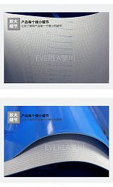 蓝色PVC输送带加挡板导条防跑偏传送带流水线提升机工业皮带定制;