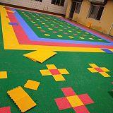 绿地球篮球场悬浮拼装地板厂家直销室外幼儿园操场专用悬浮地板;