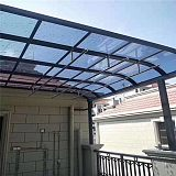 耐力板铝合金雨棚-别墅烟灰色雨棚-3mm耐力板厂家定制