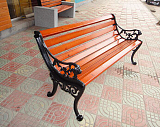 大连公园椅长椅铸铁休闲椅防腐木公园椅;