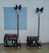 防汛应急自动升降360度移动发电机照明车;