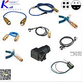 钢丝编织橡胶护套电缆连接器2针2孔航空插头LCYVB;