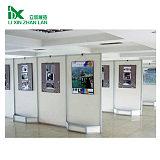八棱柱書畫展板 北京攝影畫展展架企業宣傳展板 立吉欣定制移動折疊屏風