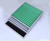 單面覆網白色初中效濾料菱形網復合過濾棉,可打折成W形過濾器使用;