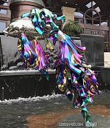 房產景觀電鍍紫紅魚雕塑 大型不銹鋼鏡面擺件