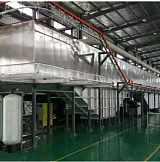 五金件烤漆噴油廠家全自動懸掛噴漆線噴粉房高溫烤漆噴油線吊掛線;