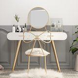 北歐梳妝臺臥室 小戶型收納柜一體化妝臺現代簡約網紅LED燈化妝桌;
