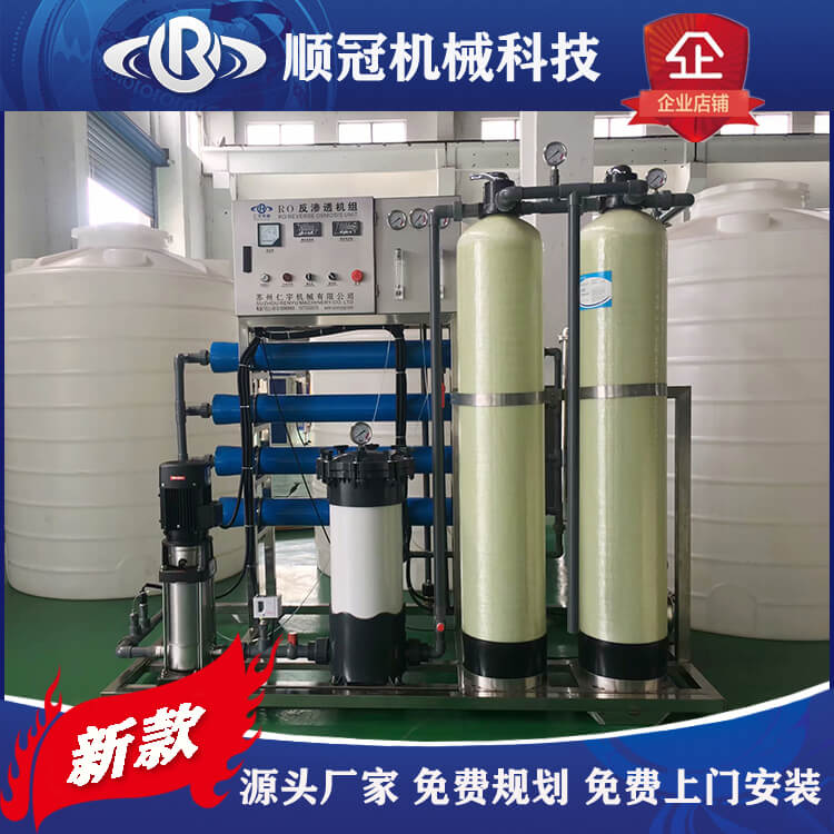 张家港小型水处理设备 反渗透纯净水设备 工业用水全自动反渗透设备