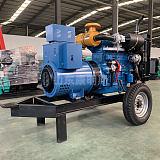 30kw千瓦柴油發電機組帶兩輪拖車 山東康明斯工廠發貨;