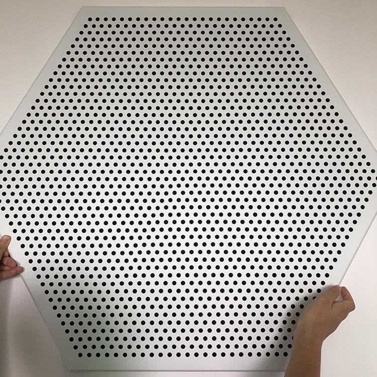 六邊形鋁扣板 沖孔鋁天花 六角形吸音鋁扣板