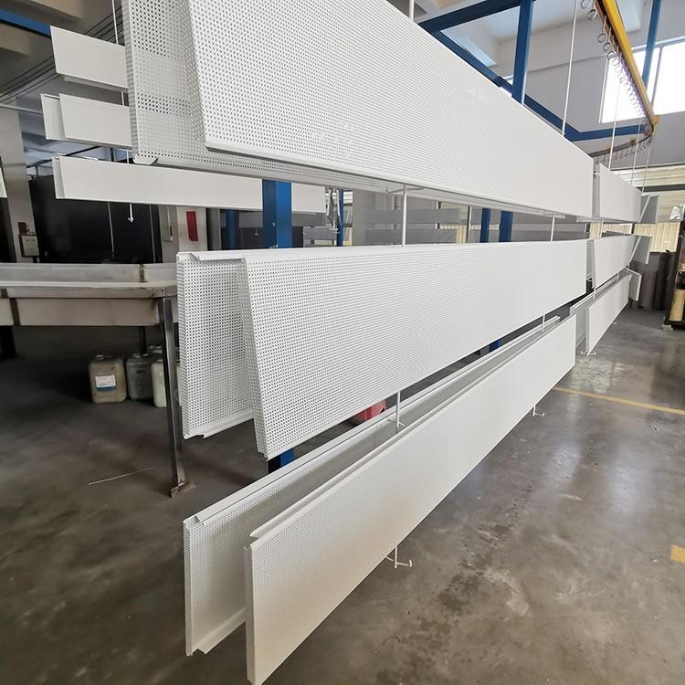 加油站罩棚吊頂 防風鋁扣板 S型鋁條板