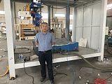 汽車內飾頂棚切割 代替水刀切割工藝技術機器人;