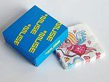 成都地区可湿水印花纸巾印制_酒吧盒装彩色方巾印制;