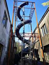 南京不銹鋼鏡面旋轉滑梯14米定制;