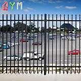 學校別墅小區圍欄 鋅鋼護欄 黑色鐵藝圍欄 廠區隔離護欄;