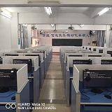 电动升降屏风电脑桌博奥智能升降式屏风考试卡座生产厂家;