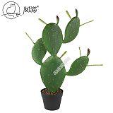 扁形仙人掌仿真植物盆栽塑胶花墨西哥仙人柱假花摆件落地绿植盆景;