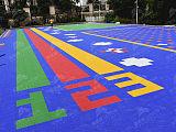 幼兒園彈性懸浮地板 防滑懸浮式拼裝地板 戶外塑料定制運動地板;