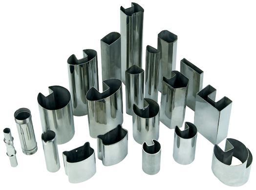 不锈钢凹槽管|夹玻璃用不锈钢管