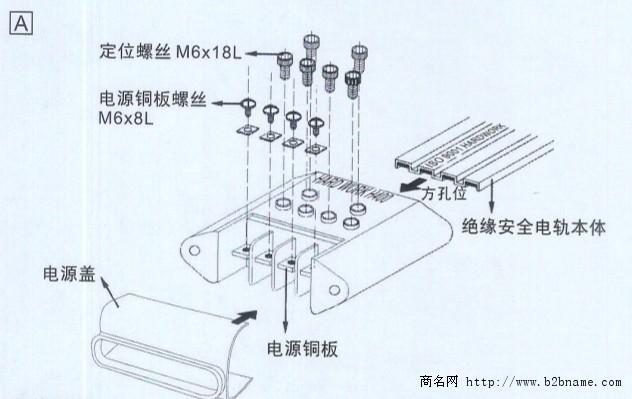 滑触线拉紧器规格,供电导轨拉紧器型号-台惠起重;