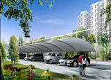 供應蘇州市膜結構停車棚,鋼結構停車棚;