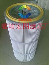 过滤碳粉用高精密覆膜粉尘滤芯,除尘滤芯(宏图;