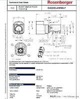 HSD PCB直角插头 ;