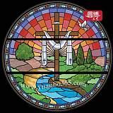 純【手工制作】歐洲古典鑲嵌技藝教堂玻璃彩繪玻璃