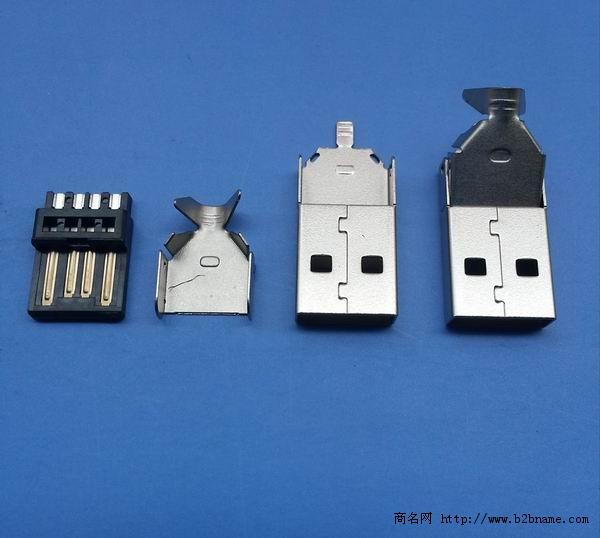 AM A公USB手机连接器插头 ;AM A公三件式短体28长.jpg
