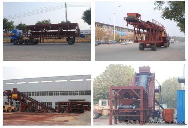 中国最大型移动式混凝土搅拌站YHZS100