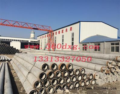 Φ350*15mT级水泥电杆价格 钢纤维电杆