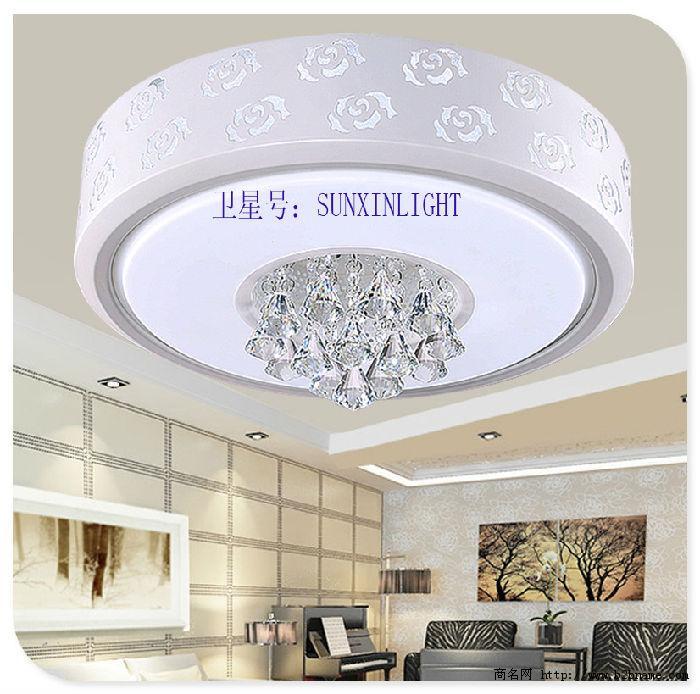 现代铁艺LED吸顶灯,水晶玫瑰;