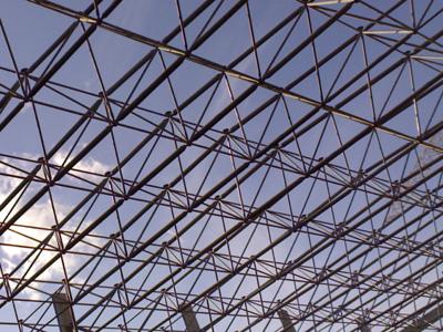 的高次超静定空间网格结构
