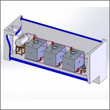 放射性废液衰变处理系统;