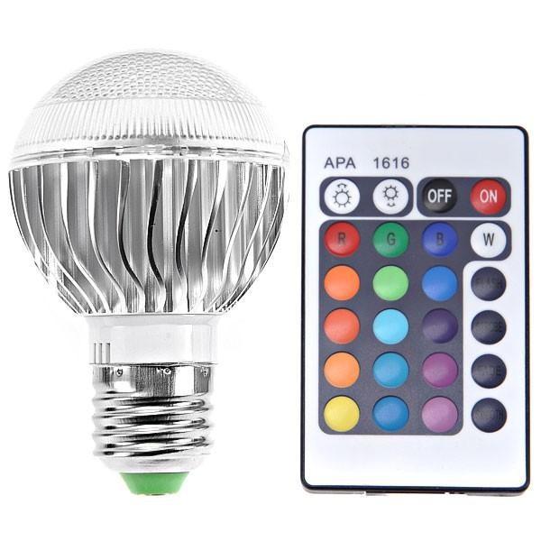 led变色灯杯射灯舞台灯RGB七彩遥节日灯;