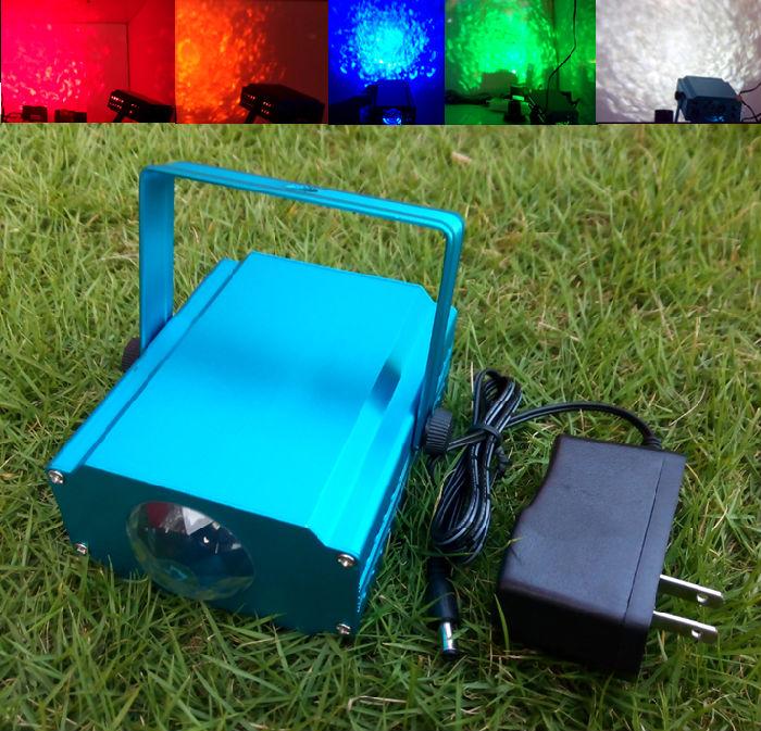 LED水纹灯 3D水影灯海洋水波激光灯红黄蓝绿;