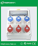 工业插座箱 防水电源箱 室外防水电源操作箱;