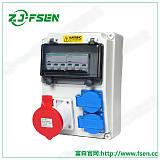 16A防雨插座明装塑料接线盒工业插座箱;