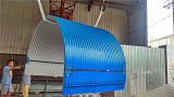 生产彩钢防雨罩、加工定做防雨罩 弧形瓦;