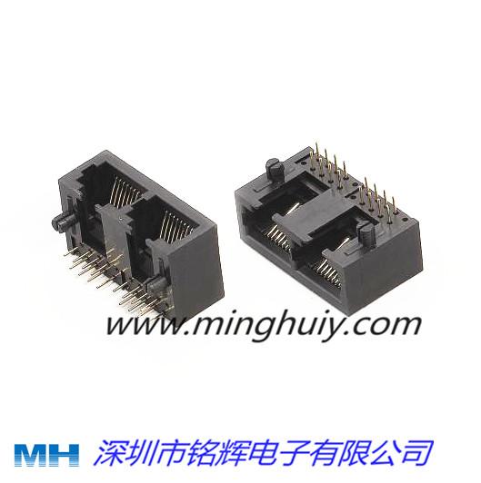 全塑系列带缺口RJ45网络插座10P8C;5623-8P8C-1X2.jpg