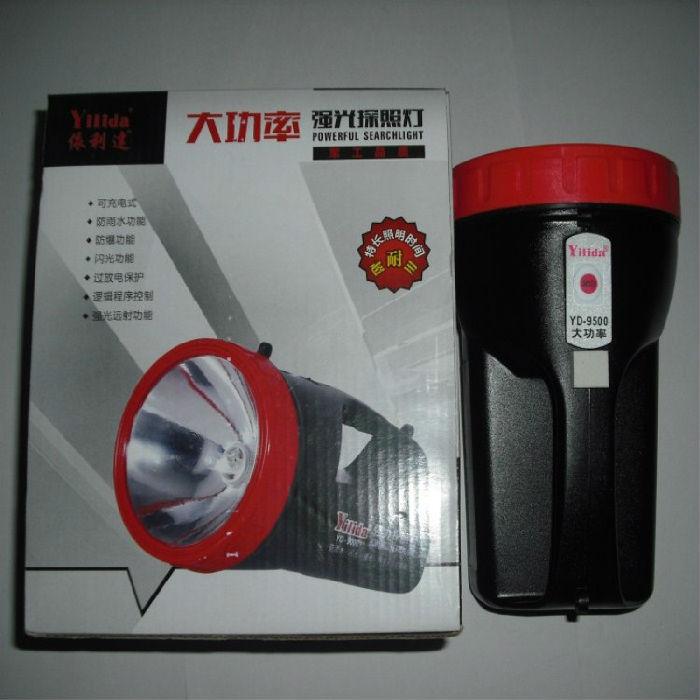 依利达超强大功率多功能充电式便携手电筒;