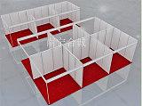 標準展位鋁料制作,八棱柱標攤圍擋報價,小孔標展尺寸