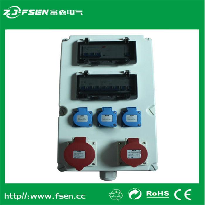 工业插座箱16A32A防雨明装塑料接线盒