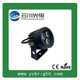 景观亮化圆形LED户外射灯3W投光灯;