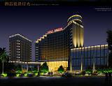 酒店夜景灯光;