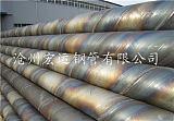 沧州钢管厂供应泵站提水用部标5037螺旋焊接钢管现货