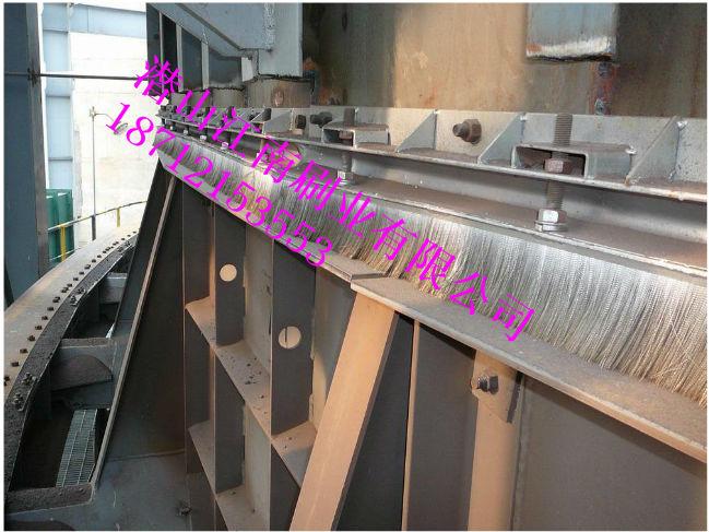 钢厂烧结环冷机耐高温钢刷密封 高温陶瓷密封钢刷-潜山江南;