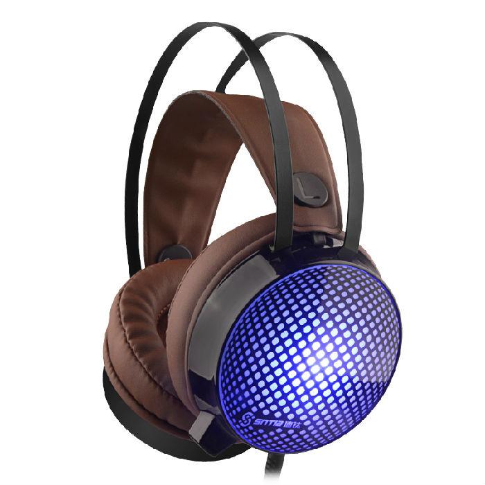 速钛V1七彩发光耳机,USB带麦